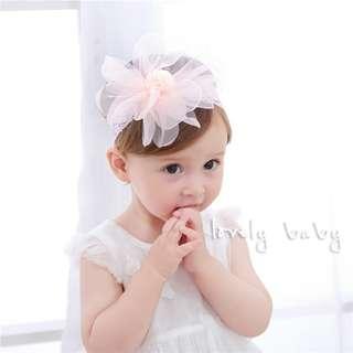 Lovelybaby✨ 韓國 寶寶超大雪紡透花兒紗甜美浪漫髮帶 公主小花童必備 甜美 頭飾 寶寶 #UW-38