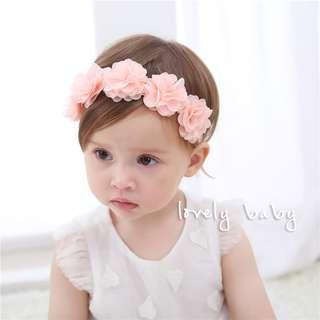 Lovelybaby✨韓式唯美公主風寶寶髮帶 女寶髮帶 寶寶必備 寶寶用品 頭飾小花童 #UW-39