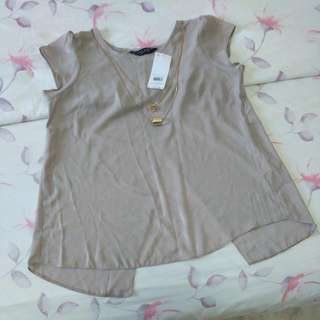 🚚 Dorothy Perkins Cap Sleeve Blouse (UK Size 10)