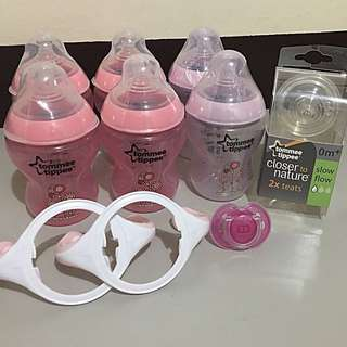 Brand New 6 Tommee Tippee 260ml Decorated Bottles