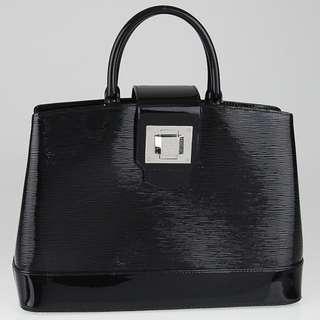 LOUIS VUITTON  Black Electric Epi Leather Mirabeau GM Bag Not Chanel Not Tory Burch Not Prada Not Gucci