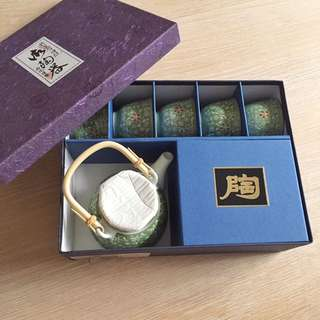 有田燒陶壺茶杯組禮盒