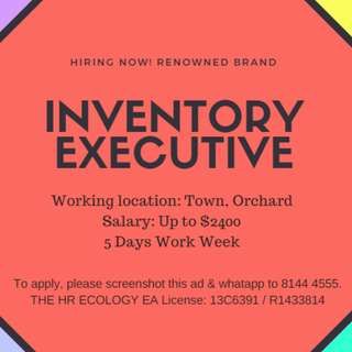 Inventory Executive/Up to $2400/ 5 Days Work week / Orchard