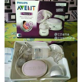 Avent single electric breast pump pompa asi natural philips