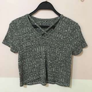 Dark Gray Cropped Top