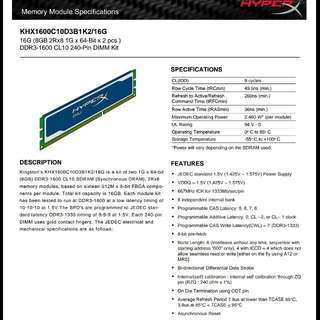 Kingston Hyperx Blu 16G