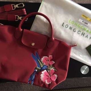 Longchamp Robin in maroon color