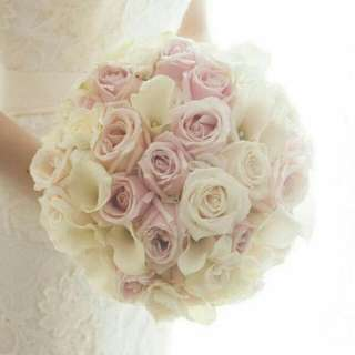 Bridal Bouquet Kystal Fresh Flower - Crytall