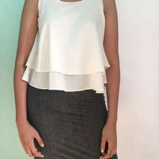grey bodycon skirt