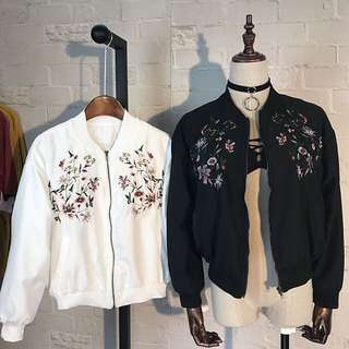 embroidered bomber jacket [PENDING]