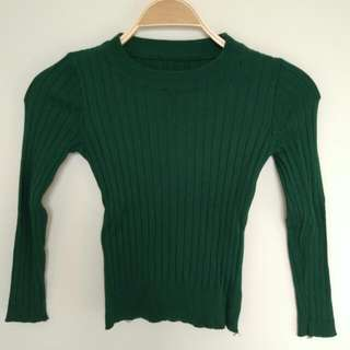Green Knit Top Fot To M