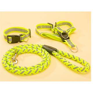 Long Nylon Leash Reflective Dog Puppy Pet Harness & Lead 3pcs Set collar walk