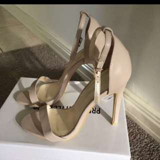Nude Strap Heels Size 37 (6-6.5)