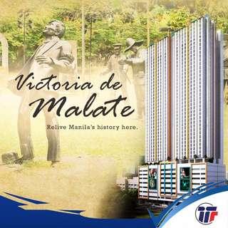 5000 a Month! 1 Bedroom Condo in Malate Manila near Makati City and Dela Salle