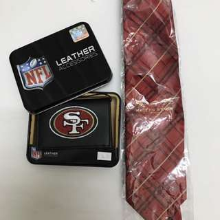 SF 49ers Wallet and Tie