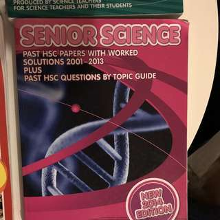 YEAR 12 HSC SENIOR SCIENCE PAST PAPER TEXTBOOK