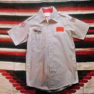 古著 復古 Vintage Work Shirt 美式古着布章工作襯衫