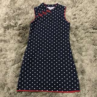 Polkadot Cheongsam Dress