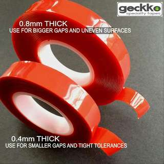 clear double sided moulding tape by Geckko Specialty Tapes double sided tape