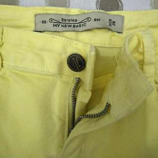 Bershka Yellow Pants