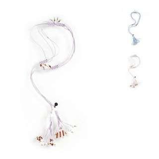 In Good Companu IGC Sachi Tassel Lariat Necklace In Lilac