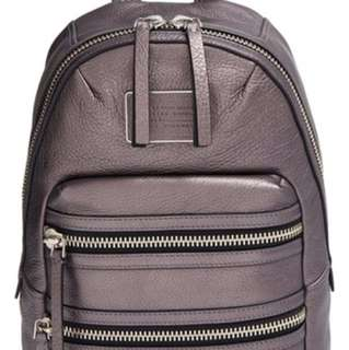 Marc jacobs Grey Biker Domo Leather Backpack
