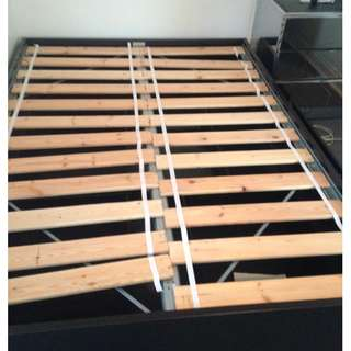 Ikea double bed frame with storage