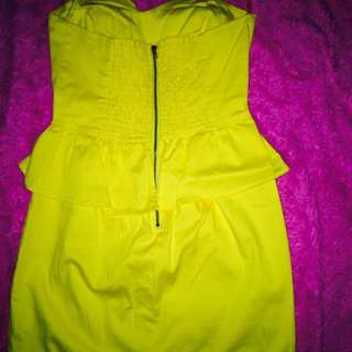 Monteau Yellow Mini Dress