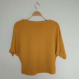 Batwing Mustard Top Fit To L