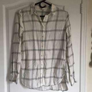 Grid Button Up Shirt