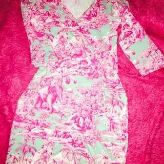 Manuel Canovas Dress w/ 3/4 Sleeves
