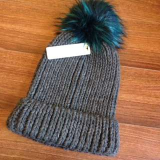 Wolly Pom Pom Hat