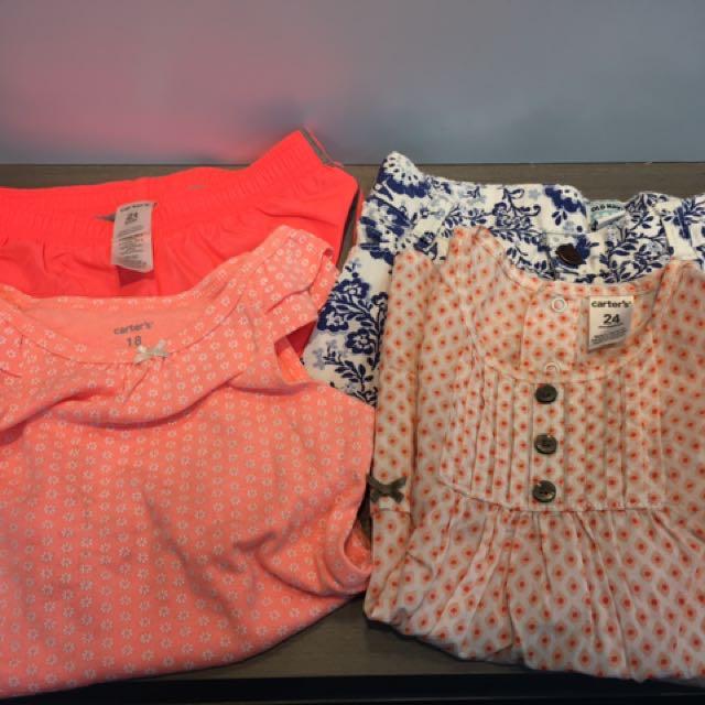 2-3Y小女童衣褲合售