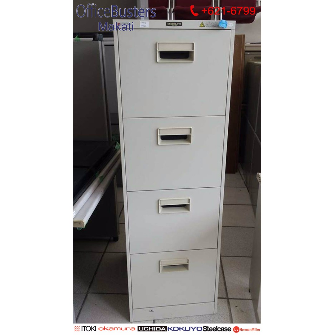 4 Drawers Vertical Cabinet- Japan's Surplus Office Furniture Used