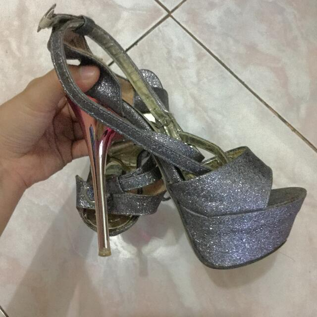 5 Inches Sparkly Heels