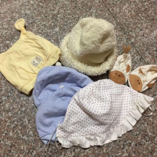 寶寶帽子&手工鞋(全部合售)