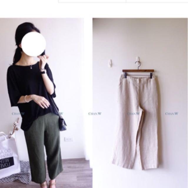 徵求 Chan 就像穿棉褲一樣的軟麻四色寬褲