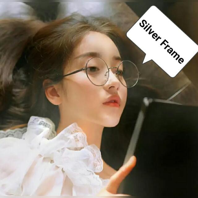 0b80439466 ⚠ Pre-order! Korean Retro Round   Flat Glasses   Spectacle Frame ...