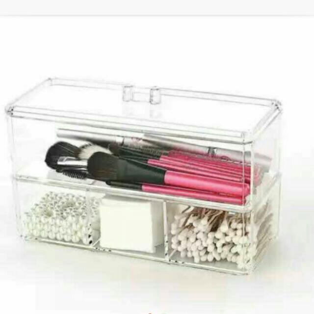 Acrylic Organizer Double Compartments