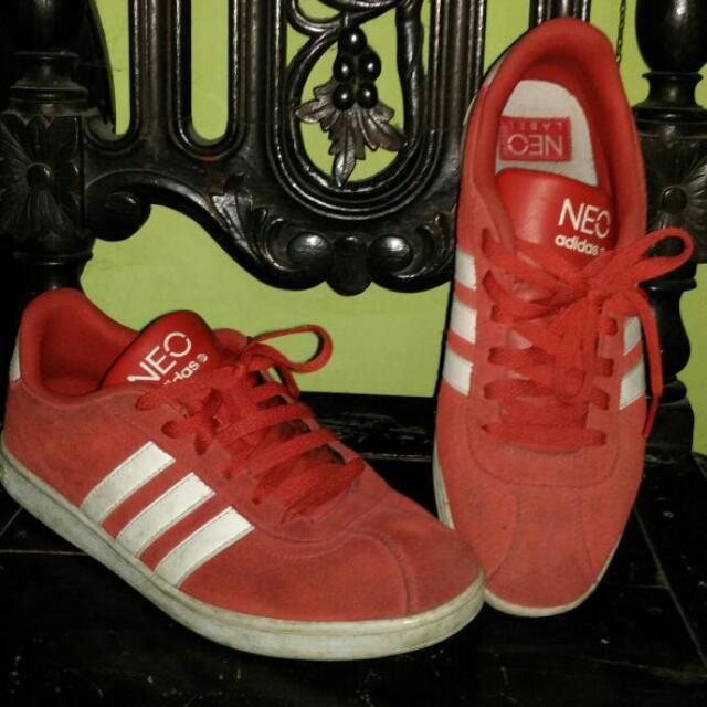 Adidas Neo Vlneo Court Red Suede