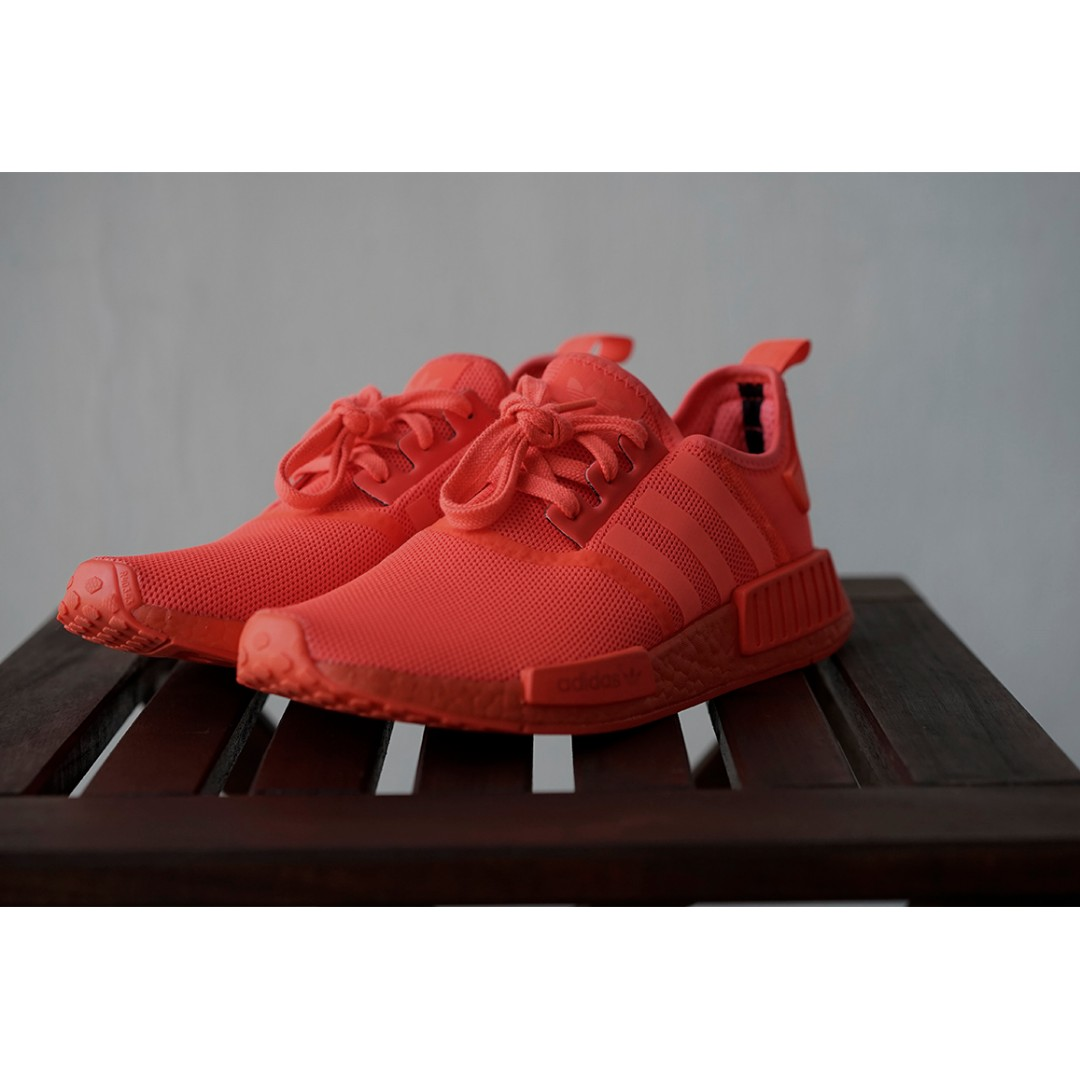 the latest 2434c 8ac1c Adidas NMD R1 Triple Red S31507 UK 7.5 US 8