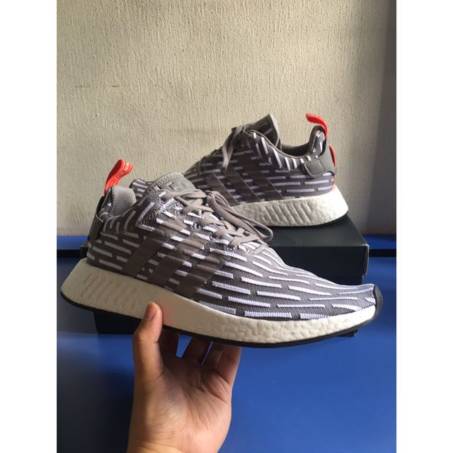 100% authentic 622df d58b4 Adidas NMD R2 ' Grey/Red • JDSports Exclusive ', Men's ...