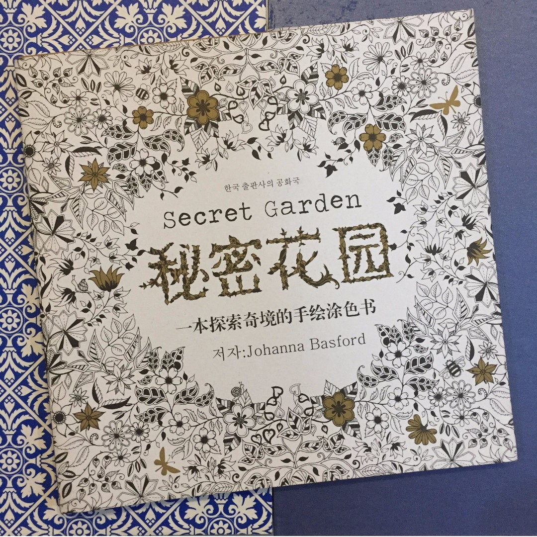 Adult Coloring Book The Secret Garden Chinese Version Books