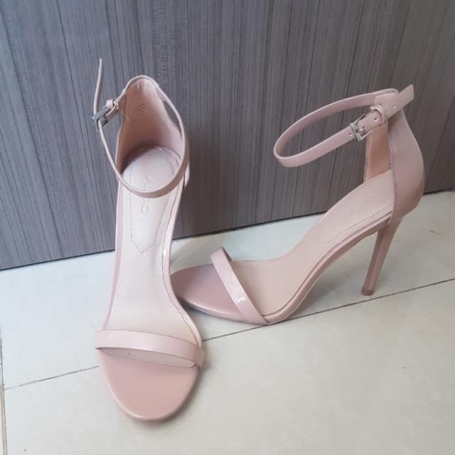 ALDO ankle nude heels (authentic)