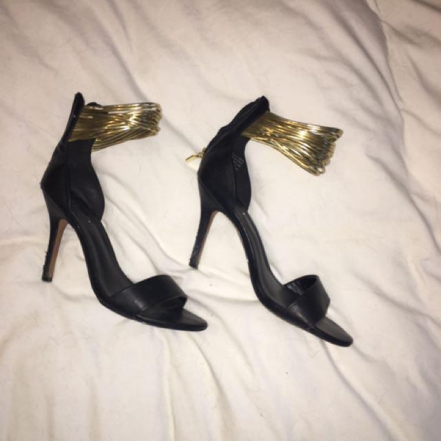 Aldo Gold Strap Heels