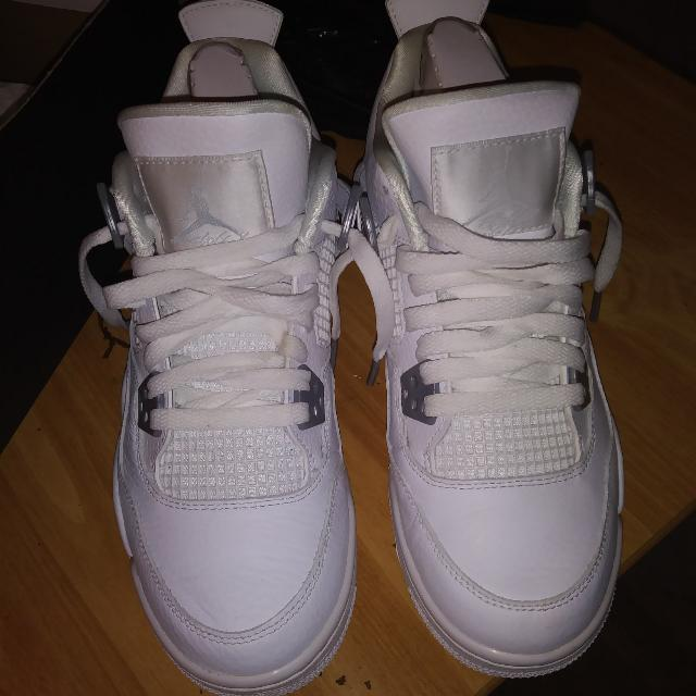 All White Jordan Retro 4s