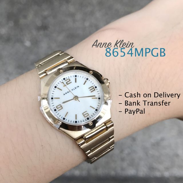 Anne Klein 8654MPGB Mother Of Pearl Dial Champagne Gold Steel Bracelet