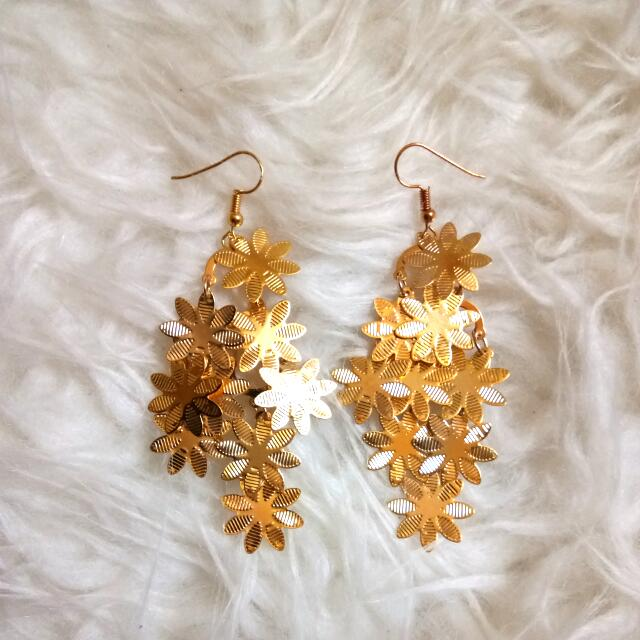 Anting Gold Bunga