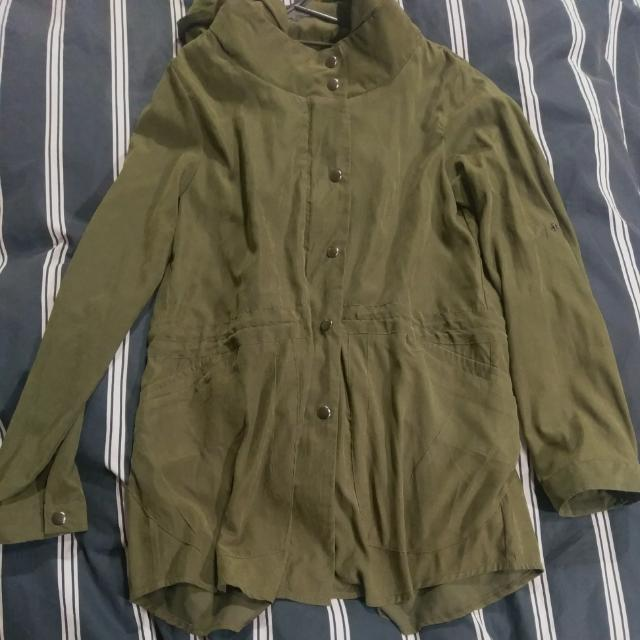 Army Green Suede Jacket Size 10