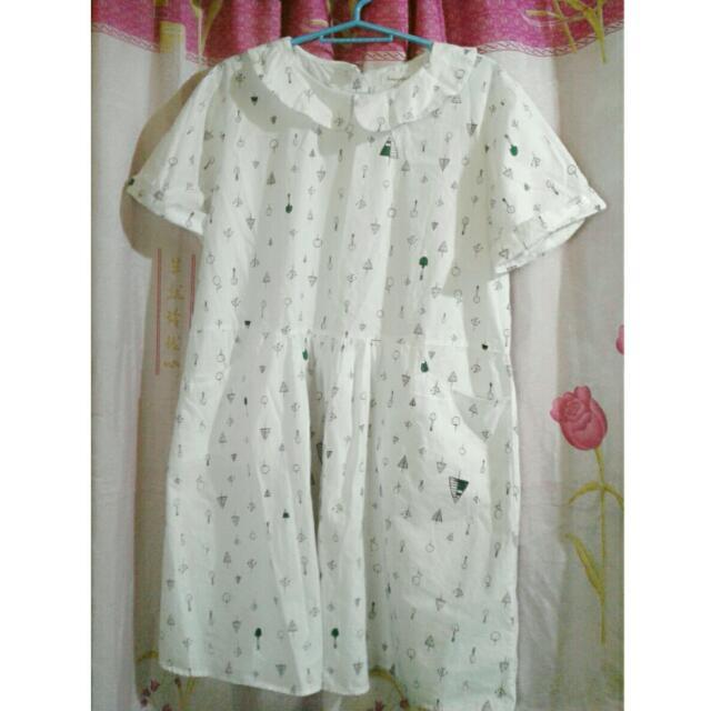 Baby Collar Korean Dress Preloved